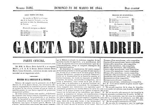 Decreto de creación de la Guardia Civil