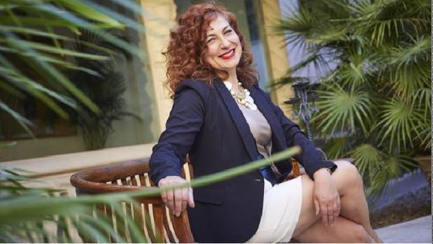 Pilar Jurado, el viernes pasado en el palacio de Longoria, sede de la SGAE