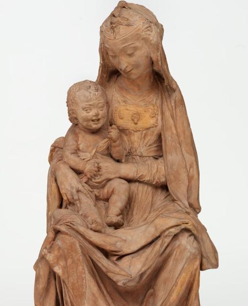 Resultado de imagen de la virgen con el niño sonriente leonardo