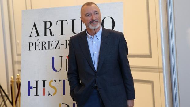 Arturo Pérez-Reverte, en la presentación de su libro esta mañana en Madrid