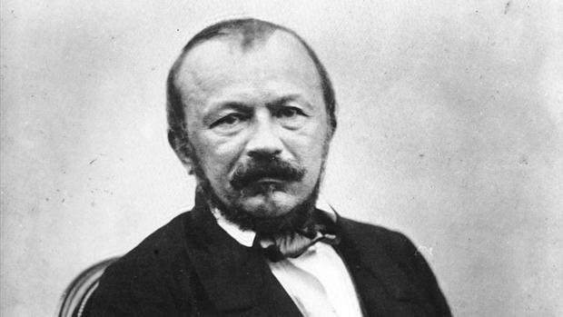 Una fotografía de Gérard de Nerval hecha por su amigo Félix Nadar poco antes del suicidio del poeta