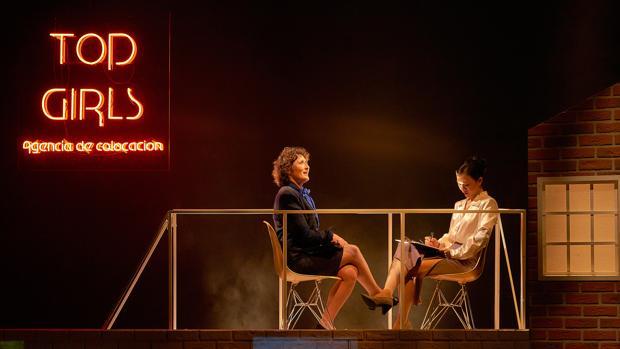Miriam Montilla y Huichi Chiu, en una escena de la obra