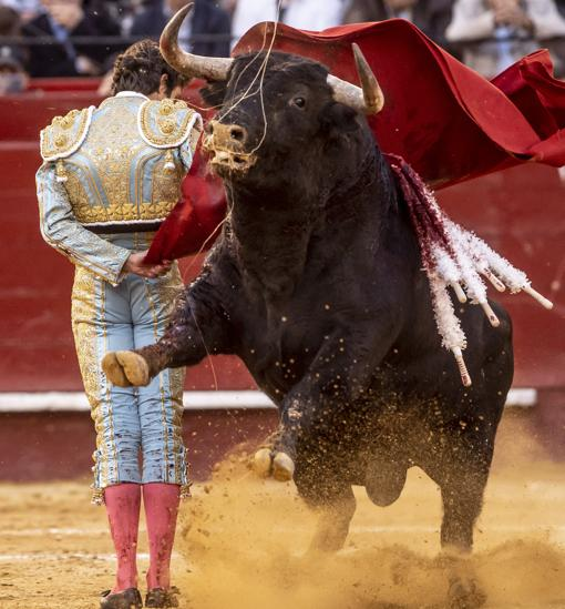 Sebastián Castella, con el quinto toro