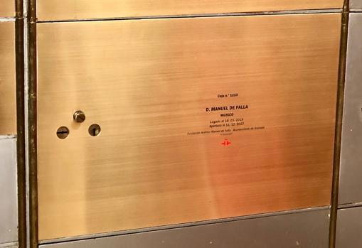La caja 1223, donde se guarda el legado de Falla