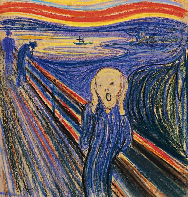 La figura central del cuadro «El grito», de Edvard Munch