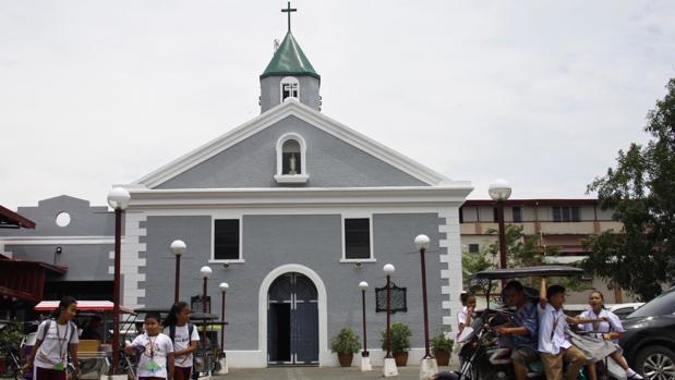 Iglesia en el centro de Baler donde los soldados españoles resistieron casi un año de asedio