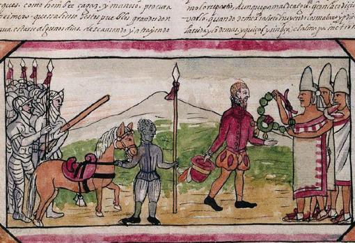 El encuentro de Cortés y Moctezuma según el códice Durán