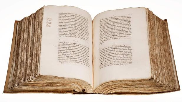 Manuscrito del siglo XVI del «Libro de los Epítomes», que los investigadores han confirmado es obra de Hernando Colón (1488-1539).