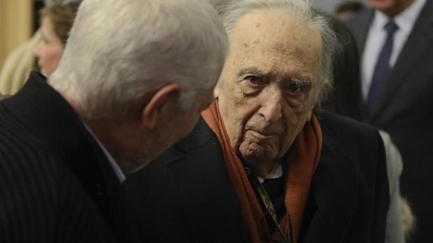 Sánchez Ferlosio, durante el homenaje por su noventa cumpleaños en 2017