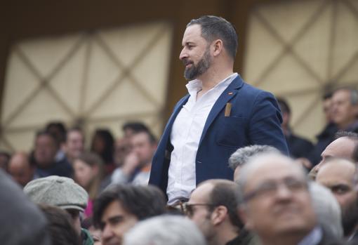 Santiago Abascal recibió el brindis de Morante en el cuarto
