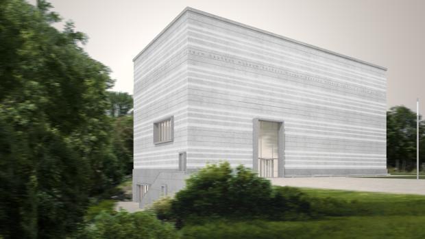 Infografía del exterior del nuevo centro, construido por Heike Hanada