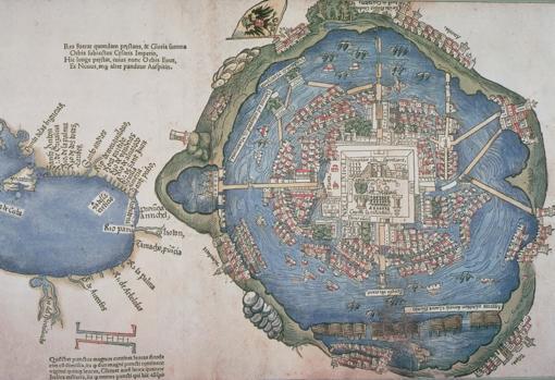 Mapa de Tenochtitlan, en 1524