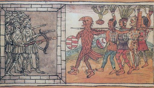 Batalla de Tenochtitlan, en uno de los códices de la época, el Durán
