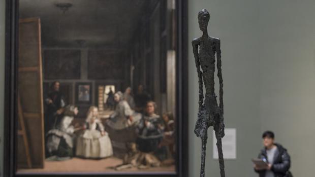 Detalle de uno de los «maridajes» de la exposición
