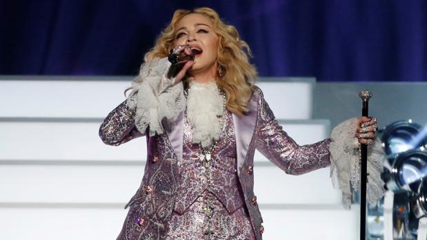 Madonna, durante un concierto en homenaje a Prince en Las Vegas en 2016