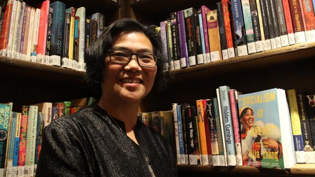 Lijia Zhang, en la librería Bookworm de Pekín