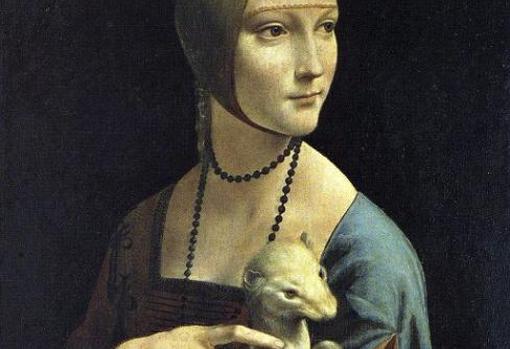 Detalle de «La dama del armiño», de Leonardo