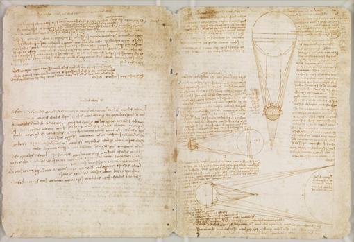 Página del Códice Hammer de Leonardo da Vinci