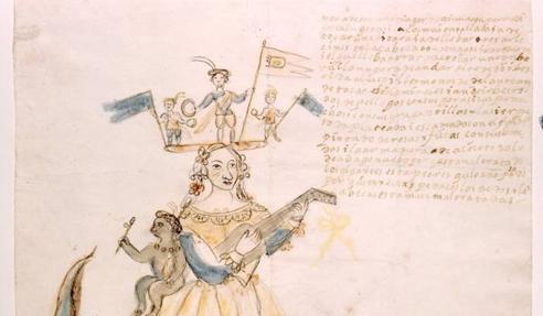 Detalle de una de las obras del Museo de la Historia