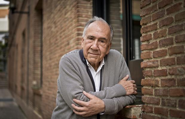 El poeta Joan Margarit, fotografiado en 2018