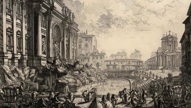 Aguafuerte de Piranesi: la Fontana di Trevi