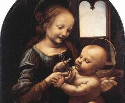 Detalle de la «Madona Benois» de Da Vinci
