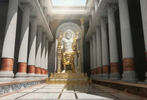 Estatua gigante de Zeus en Olimpia