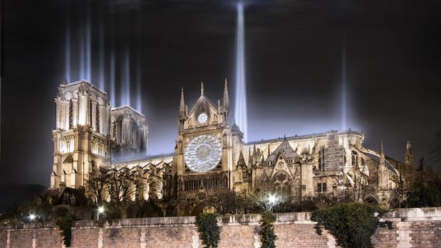 El proyecto de Christophe Pinguet para iluminar Notre Dame en Navidad