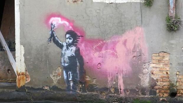 El supuesto Banksy aparecido en Venecia