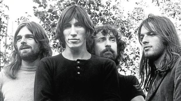 De izquierda a derecha, Richard Wright, Roger Waters, Nick Mason y David Gilmour