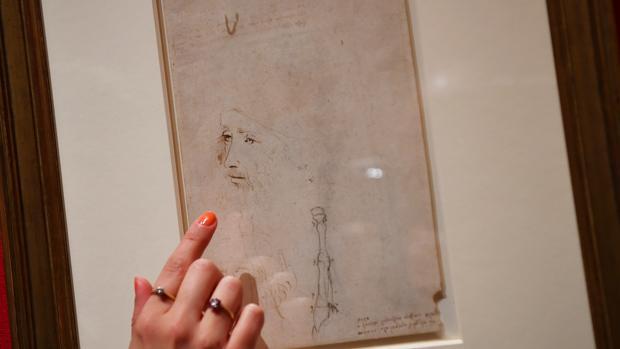Una imagen de la muestra de Leonardo en el Palacio de Buckingham