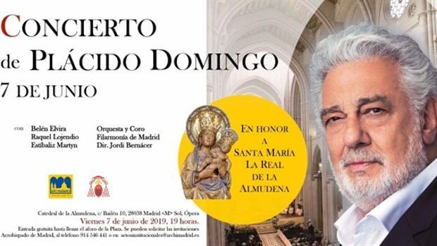 Cartel del concierto de Plácido Domingo