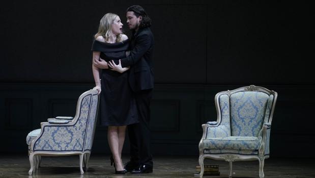 Malin Byström (Condesa Madeleine), André Schuen (Olivier), en «Capriccio»