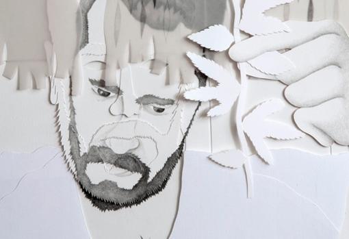 Detalle de «Yo dibujando»