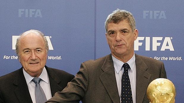 Blatter junto a Villar en un acto de la FIFA