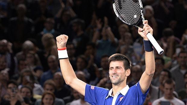 Novak Djokovic celebra el triunfo ante Murray
