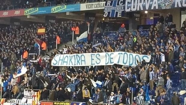La polémica pancarta sobre Shakira