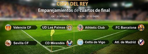 Sorteo Copa del Rey - Athletic-Barça, duelo estrella de los cuartos ...