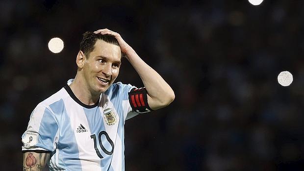 Leo Messi, en un partido con Argentina