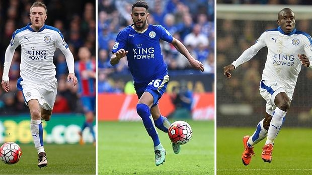 Tres del milagroso Leicester entre los candidatos a jugador del año