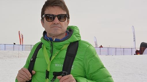El doctor Alberto Dolci, durante la entrevista en Kronplatz