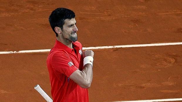 Novak Djokovic, durante el Mutua Madrid Open