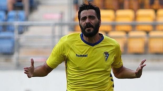 Dani Güiza, delantero del Cádiz
