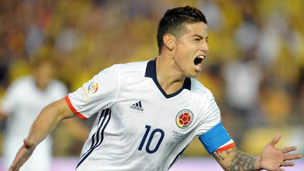 Copa América:  James mete a Colombia en cuartos