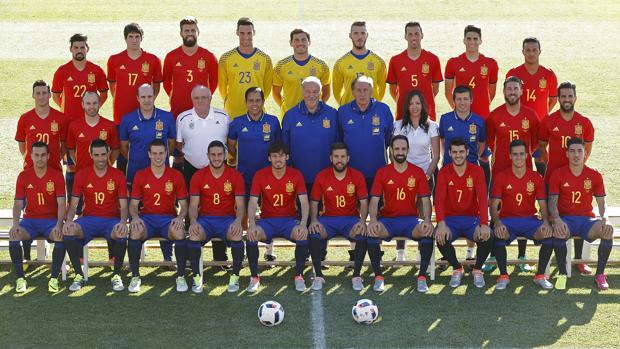 Fotografía oficial de la selección para la Eurcopa