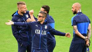 Insigne, durante un entrenamiento de Italia