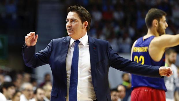 Xavi Pascual, durante la final de la ACB