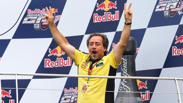 Sito Pons, en el podio del GP de Indianápolis de 2015