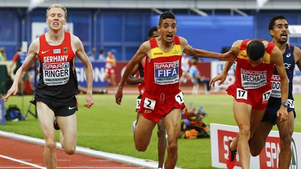 Ilias Fifa y Adel Mechaal, oro y la plata en los 5.000 metros