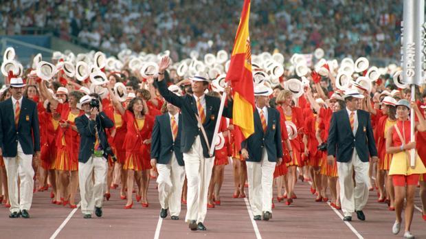 Felipe VI, entonces Príncipe de Asturias, fue el abanderado español en Barcelona 92